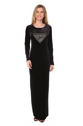 Bayan Kadife Uzun Elbise